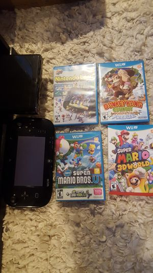 Nintendo Wii U with Games for Sale in Calverton, MD