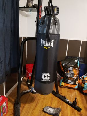 Century heavy bag stand & Everlast 100Lb heavy bag. for Sale in San Angelo, TX