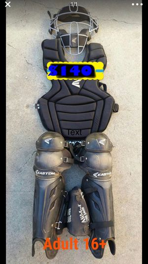 Baseball catcher gear easton quality catcher set gloves bats for Sale in Los Angeles, CA