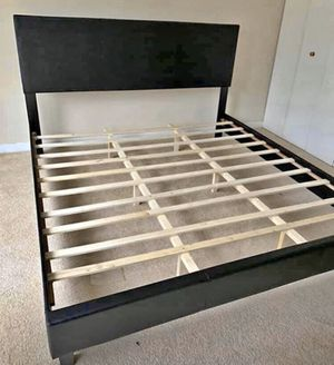 Leather King Bed Frame with Mattress!! Brand New Free Delivery for Sale in Chicago, IL