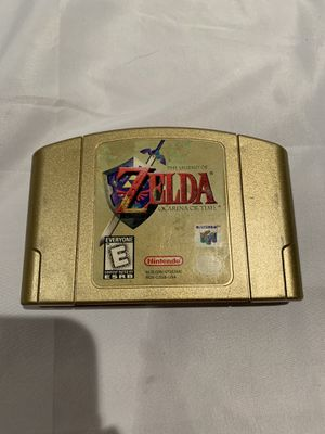 Zelda Ocarina Of Time Gold Collectors Edition For Nintendo 64 for Sale in Irvine, CA
