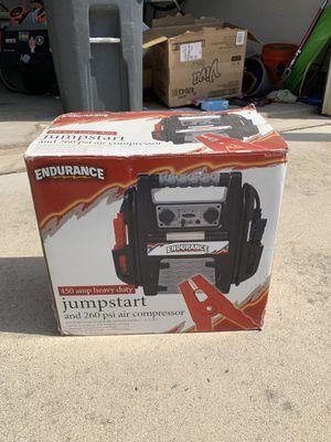 Endurance jump start air compressor for Sale in Sterling, VA