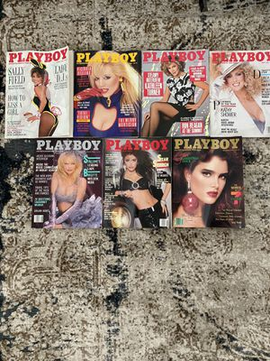 Seven issues 1986 Playboy Magazines for Sale in Englewood, CO