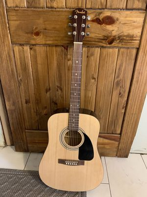 Fender FA-115 Acoustic Guitar with picks and capo for Sale in Midwest City, OK