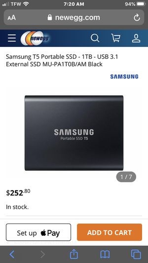 SAMSUMG PORTABLE SSD T5 BRAND NEW for Sale in Queens, NY
