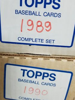 1989 & 1990 Topps Baseball Complete Sets. for Sale in Lodi,  CA