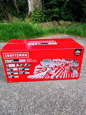 Craftsman 298 Piece Mechanics Tool Set for Sale in Tacoma, WA