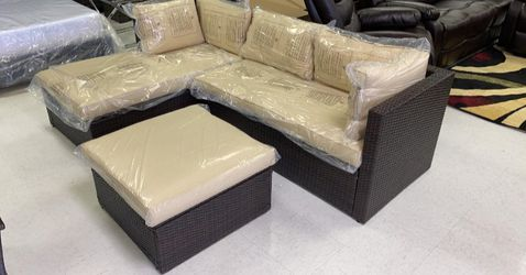 ♎️♋️♍️Terra 4pc wicker patio set ♎️♌️♉️Just $39 Down NO CREDIT NEEDED for Sale in Houston,  TX
