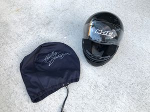 Black HJC motorcycle helmet adult size large for Sale in Entiat, WA
