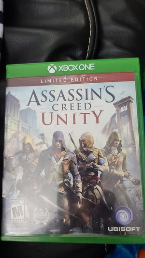 XBOX ONE ASSASSIN'S CREED UNITY DVD for Sale in Hollywood, CA