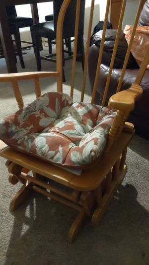 Wooden glider rocking chair. OBO for Sale in Henderson, NV