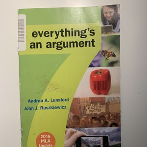 Everything's an Argument Textbook for Sale in Rancho Santa Margarita, CA