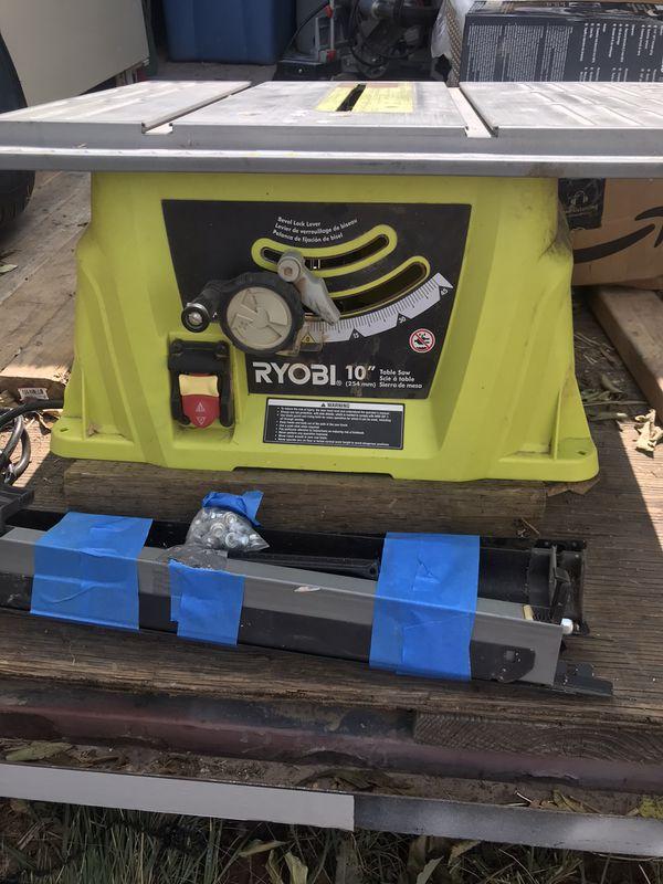 """Ryobi 13amp 13-1/4"""" Table saw and stand"""