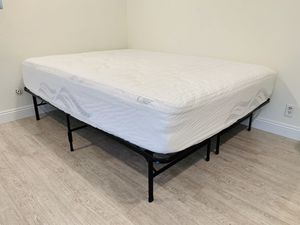 Queen Size Bed Mattress with Two foldable frames for Sale in Irvine, CA