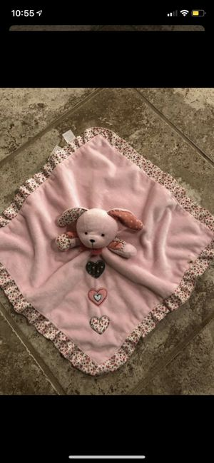 Baby girl blanket that rattles smoke and pet free for Sale in Taunton, MA