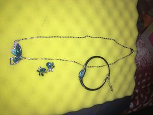 3 Pc of Blue and Silver Matching accessories for Sale in Hayward, CA