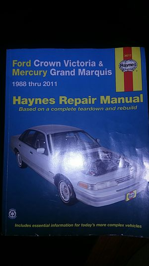Haynes Crown Vic/Grand Marquis 1988-2011 for Sale in Hazlehurst, GA