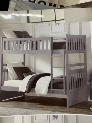 Twin over twin bunk bed on sale(grey color) for Sale in Federal Way, WA