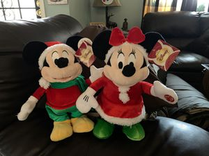 New Christmas electric singing Micky and Minni. Bourbon at Disney Land. No holds. First come. $30 dollars a piece. Not sold espérate. for Sale in Sacramento, CA
