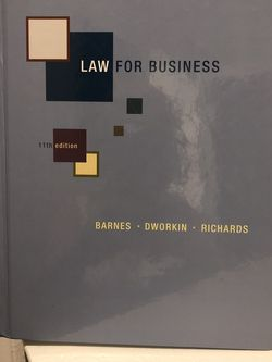 Law for Business Edition 11 for Sale in Catonsville,  MD
