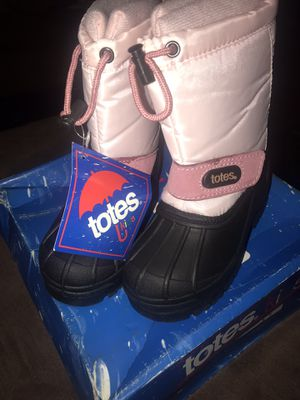Girls Pink/Black Totes Boots for Sale in Yonkers, NY
