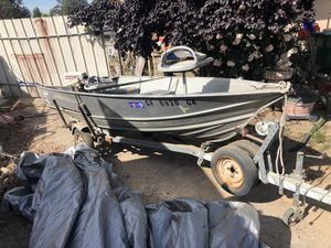 13 foot six Gregor all welded 15 horse Johnson for Sale in Nipomo, CA