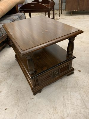 Dark Formica Topped End Table for Sale in Lake Helen, FL