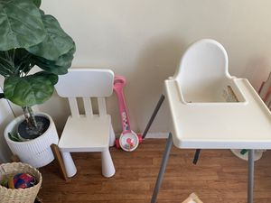 Kids bundle IKEA high chair and kids chair $ a target toy for Sale in San Diego, CA