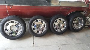 Cadillac 5 lug deville rims with tires for Sale in North Las Vegas, NV