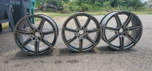 (3) 19 inch AMG Mercedes Rims/Wheels. (2) 19×8.5 and (1) 19×9.5. Fits S-Class and E-Class. for Sale in Bridgeville, PA