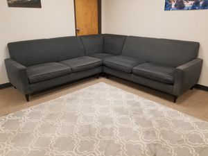 Grey Soft Room and Board Sectional Couch for Sale in Denver, CO