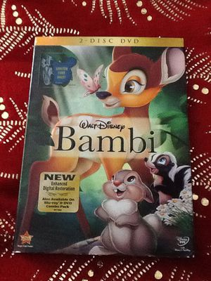 Bambi the DVDs movie new never open for Sale in Brandon, FL