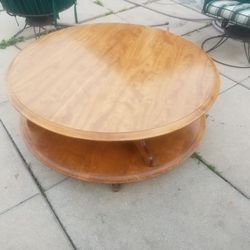 Vintage Large Round Spinning Coffee Table for Sale in Los Angeles,  CA