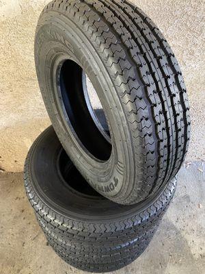 St205/75r14 trailer tires powerking towmax str muy buenas condiciones las 4 in very good condition all 4 $180 st205/75/14 for Sale in Colton, CA