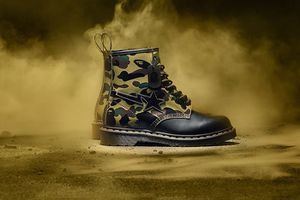 Dr martens bape boots size 10 - supreme - nike - adidas for Sale in Sacramento, CA