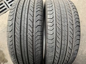 (2)225-45-18 PAIR OF USED TIRES CONTINENTALS for Sale in Los Angeles, CA