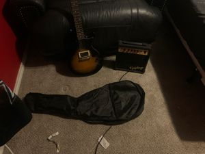 epiphone guitar and amp with cord and case for Sale in Haslet, TX