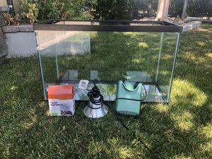 20 gallon turtle tank with accessories for Sale in San Jose, CA