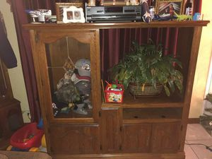 Solid wood entertainment center for Sale in Maryland Heights, MO