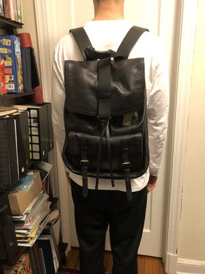 Backpack, COACH leather, black for Sale in Bethesda, MD