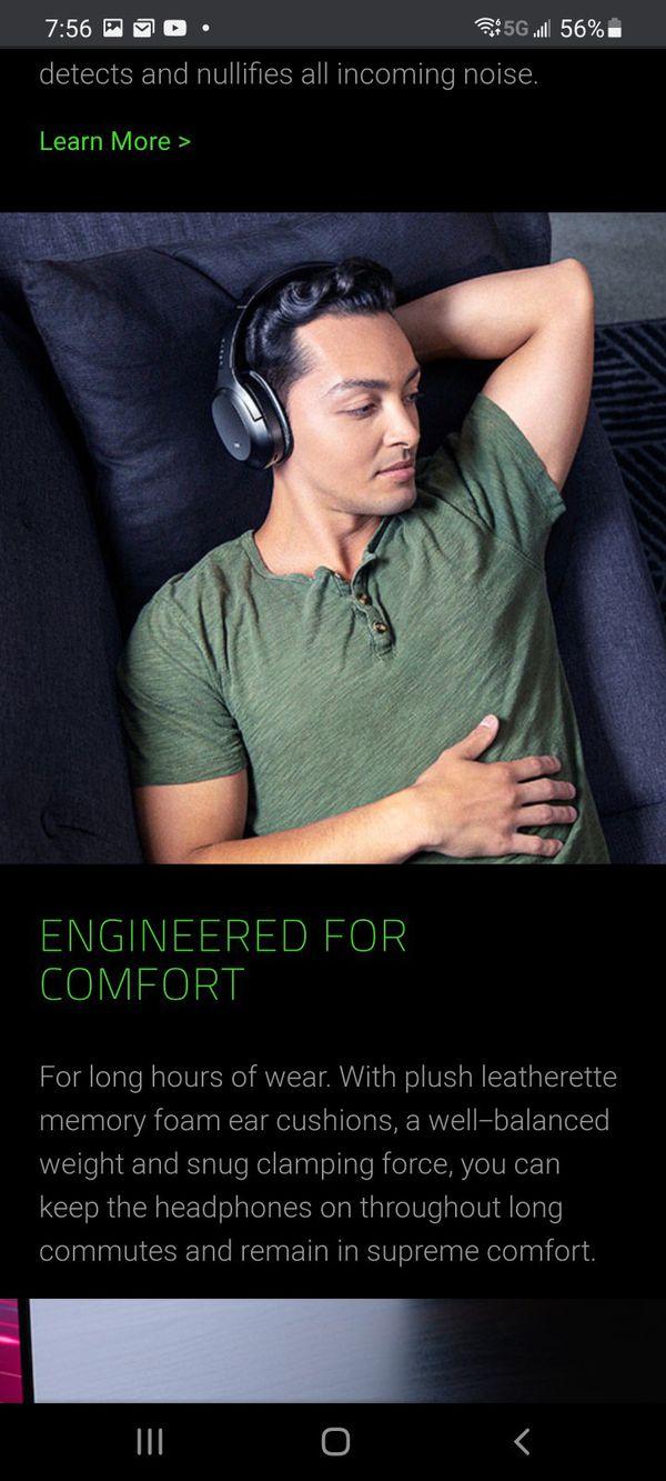 Razer Opus Headphones Black