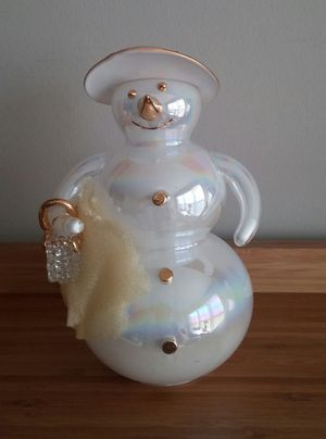 Handcrafted Glass Snowwoman for Sale in Germantown, MD