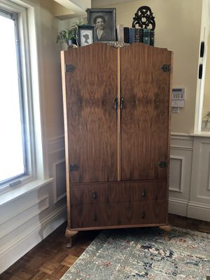 Antique Deco Burled Armoire for Sale in Fort Lauderdale, FL