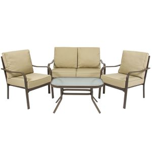 4-Piece Cushioned Furniture Conversation Set Home Patio Garden Backyard Decor for Sale in Los Angeles, CA