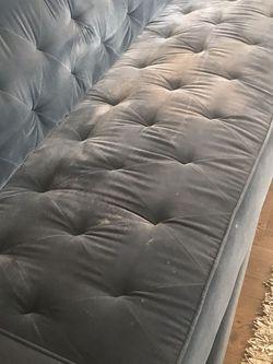 Free Blue Velvetine Sleeper Sofa for Sale in Seattle,  WA