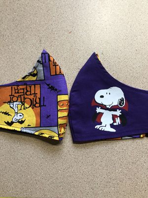 Reversible Peanuts Halloween Face Mask for Sale in Los Angeles, CA