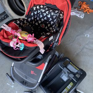 Mickey Mouse Stroller And Car seat Combo $40 OBO for Sale in Surprise, AZ