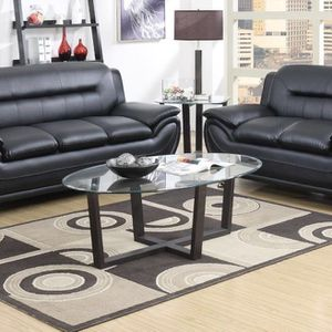 Brand new black leather sofa and love seat only $39 Down /// Financing available no credit needed Miriam's furniture 719 *E *9th *Street Hialeah * for Sale in Pompano Beach, FL