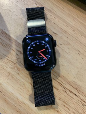 Apple Watch series 4 40mm black stainless steel gps lte with Milanese band mint excellent condition for Sale in Los Angeles, CA