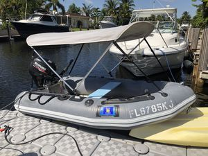 Hard Bottom RIB Inflatable Boat w/Suzuki Four Stroke 9.9 and Trailer for Sale in Pompano Beach, FL
